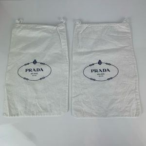 2 Prada Dust Bags Small